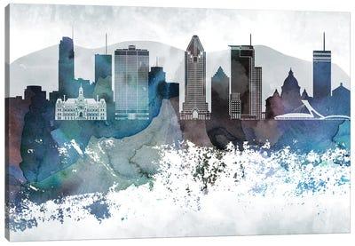 Montreal Bluish Skyline Canvas Art Print