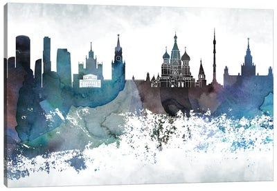 Moscow Bluish Skyline Canvas Art Print