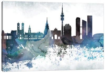 Munich Bluish Skyline Canvas Art Print