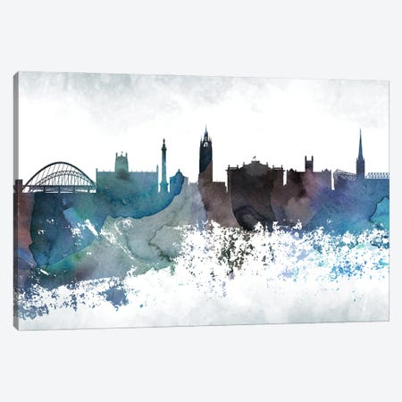 Newcastle Bluish Skyline Canvas Print #WDA696} by WallDecorAddict Canvas Print