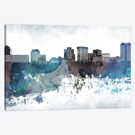 Norfolk Bluish Skyline Canvas Print #WDA697} by WallDecorAddict Art Print