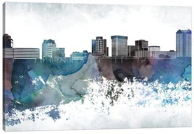 Norfolk Bluish Skyline Canvas Art Print