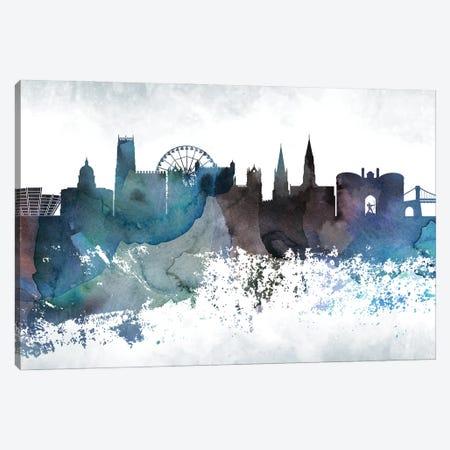 Nottingham Bluish Skyline Canvas Print #WDA698} by WallDecorAddict Canvas Wall Art