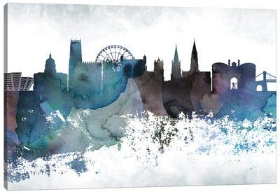 Nottingham Bluish Skyline Canvas Art Print
