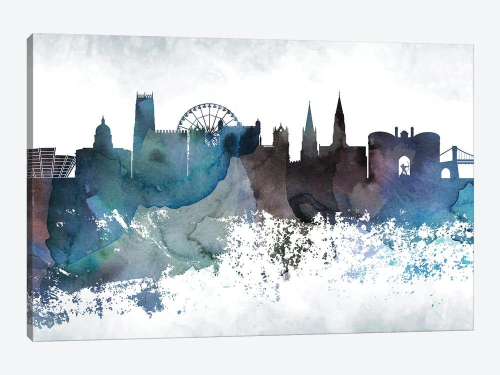 Nottingham Bluish Skyline by WallDecorAddict 1-piece Canvas Artwork