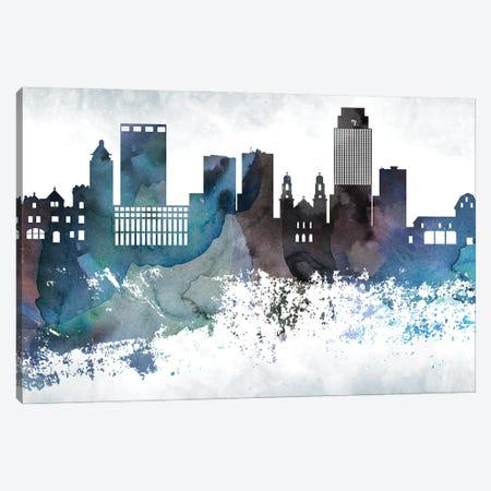 Omaha Bluish Skyline Canvas Print #WDA699} by WallDecorAddict Canvas Artwork