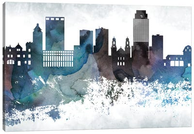 Omaha Bluish Skyline Canvas Art Print