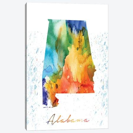 Alabama State Colorful Canvas Print #WDA6} by WallDecorAddict Art Print