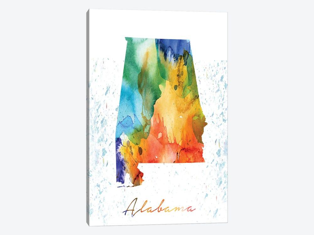 Alabama State Colorful by WallDecorAddict 1-piece Art Print