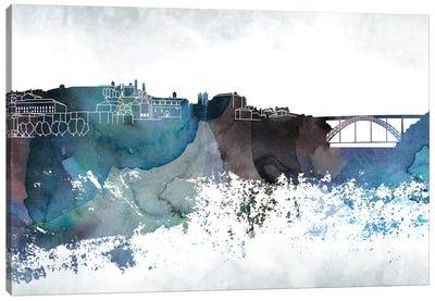 Oporto Bluish Skyline Canvas Art Print