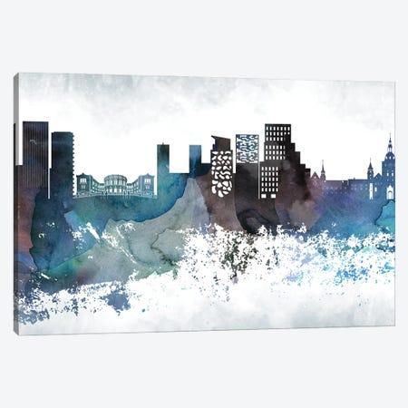 Oslo Bluish Skyline Canvas Print #WDA702} by WallDecorAddict Canvas Artwork