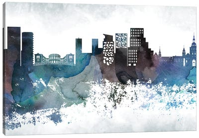 Oslo Bluish Skyline Canvas Art Print