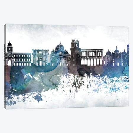 Padua Bluish Skyline Canvas Print #WDA704} by WallDecorAddict Canvas Art Print