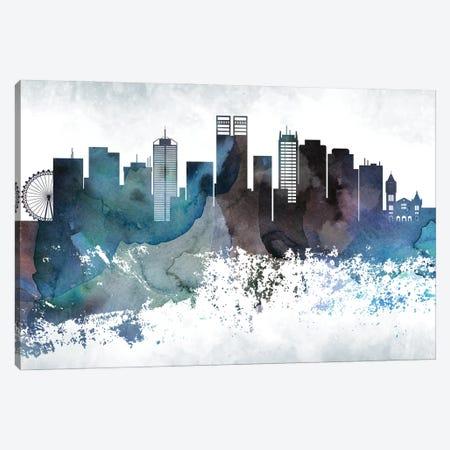 Perth Bluish Skyline Canvas Print #WDA705} by WallDecorAddict Art Print