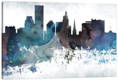 Providence Bluish Skyline Canvas Art Print