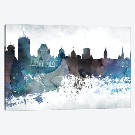 Quebec Bluish Skyline Canvas Print #WDA708} by WallDecorAddict Canvas Art