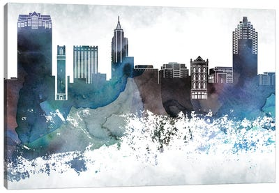 Raleigh Bluish Skyline Canvas Art Print