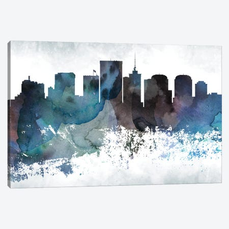 Richmond Bluish Skyline Canvas Print #WDA710} by WallDecorAddict Art Print