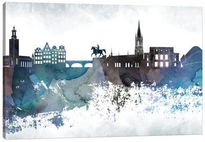Stockholm Bluish Skyline Canvas Art Print