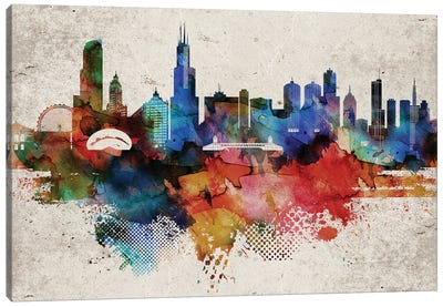 Chicago Abstract Canvas Art Print