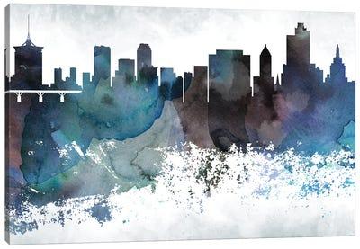 Tulsa Bluish Skyline Canvas Art Print