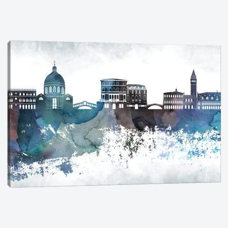 Venice Bluish Skyline Canvas Print #WDA725} by WallDecorAddict Art Print