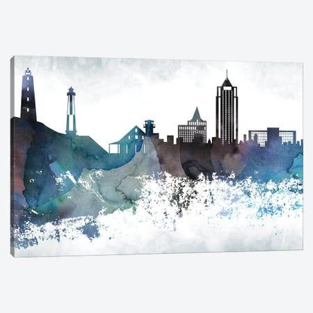 Virginia Bluish Skyline Canvas Print #WDA727} by WallDecorAddict Canvas Art Print
