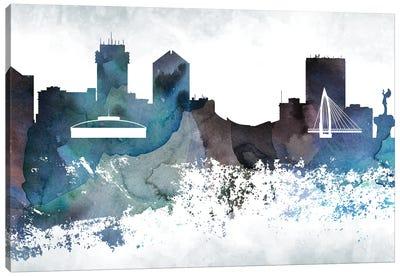 Wichita Bluish Skyline Canvas Art Print