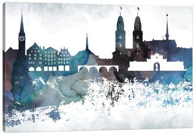 Zurich Bluish Skyline Canvas Art Print