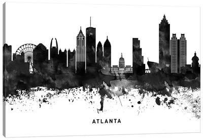 Atlanta Skyline Black & White Canvas Art Print