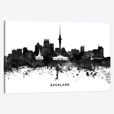 Auckland Skyline Black & White Canvas Print #WDA738} by WallDecorAddict Canvas Art Print