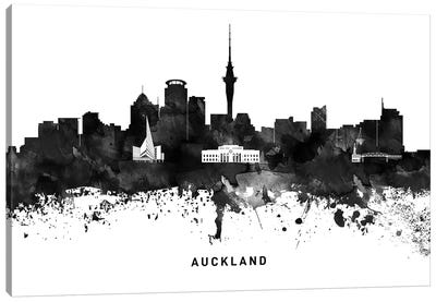 Auckland Skyline Black & White Canvas Art Print