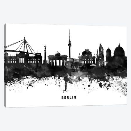 Berlin Skyline Black & White Canvas Print #WDA745} by WallDecorAddict Canvas Print
