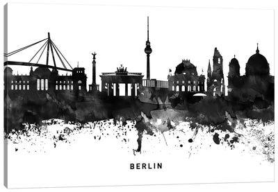 Berlin Skyline Black & White Canvas Art Print