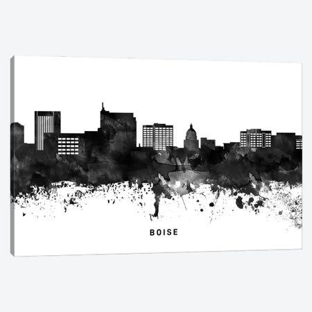 Boise Skyline Black & White Canvas Print #WDA746} by WallDecorAddict Art Print