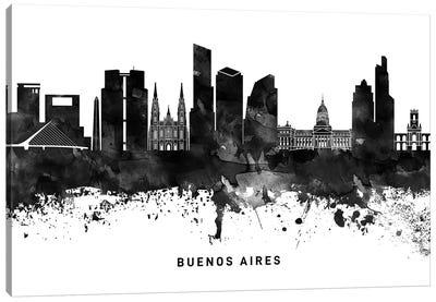 Buenos Aires Skyline Black & White Canvas Art Print