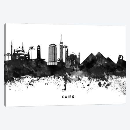 Cairo Skyline Black & White Canvas Print #WDA752} by WallDecorAddict Canvas Print