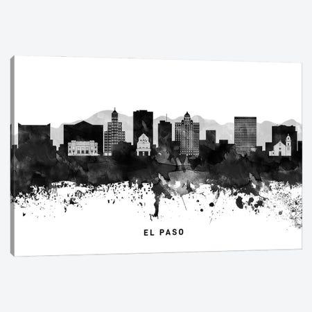 El Paso Skyline Black & White Canvas Print #WDA771} by WallDecorAddict Canvas Print