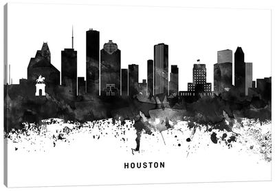 Houston Skyline Black & White Canvas Art Print