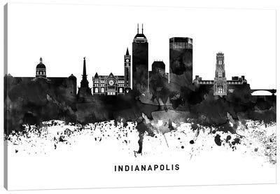 Indianapolis Skyline Black & White Canvas Art Print