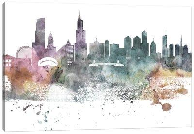 Chicago Pastel Skylines Canvas Art Print