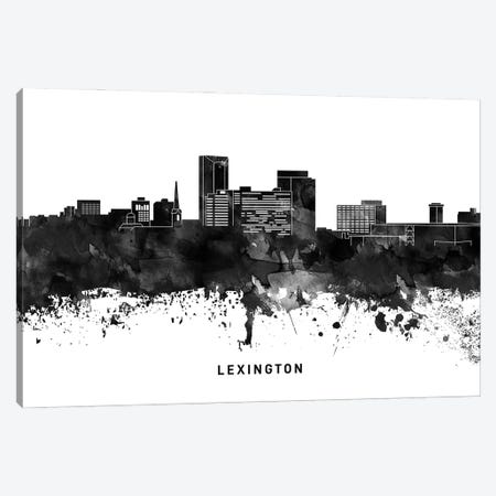 Lexington Skyline Black & White Canvas Print #WDA792} by WallDecorAddict Canvas Print