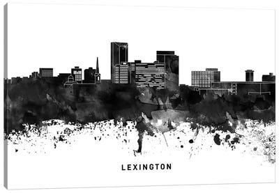 Lexington Skyline Black & White Canvas Art Print