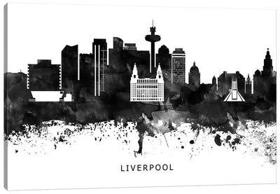 Liverpool Skyline Black & White Canvas Art Print