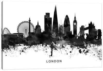 London Skyline Black & White Canvas Art Print