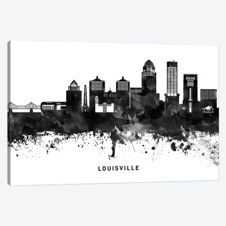 Louisville Skyline Black & White Canvas Print #WDA799} by WallDecorAddict Canvas Print