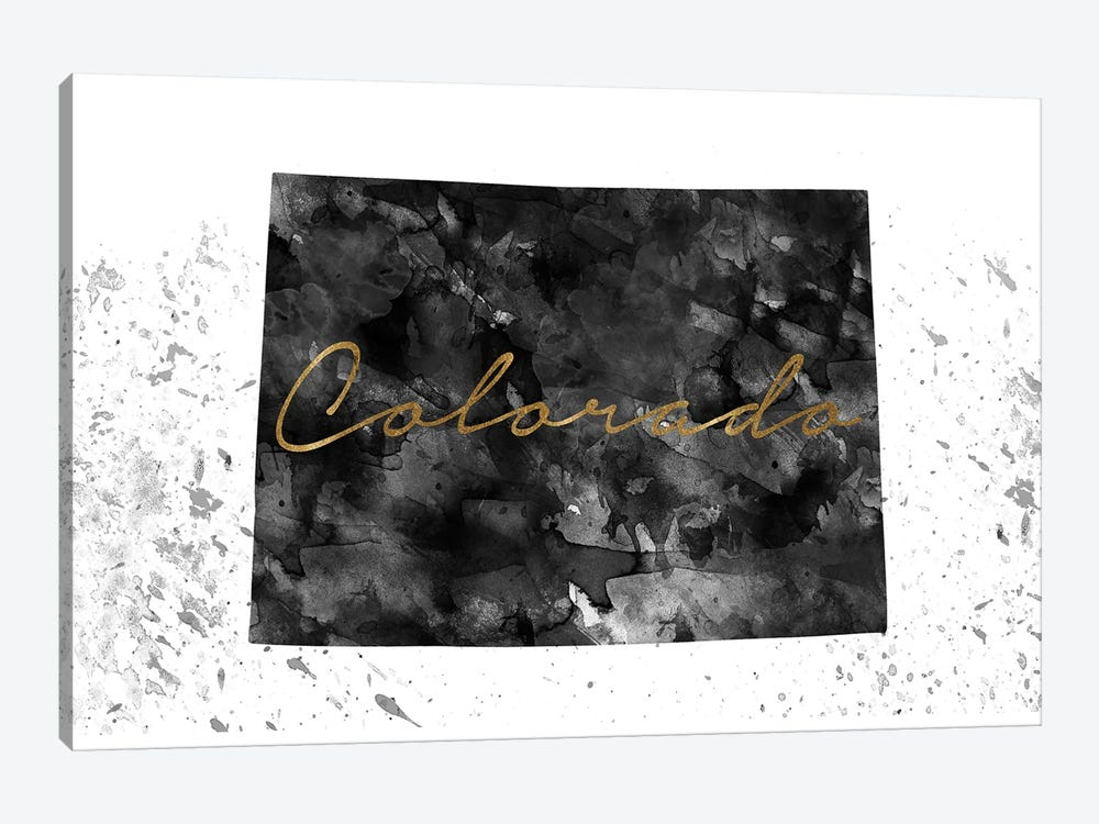 Colorado Black And White Gold 1-piece Canvas Print