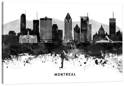 Montreal Skyline Black & White Canvas Art Print