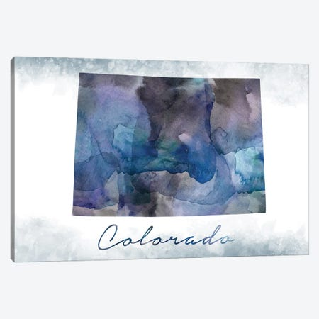 Colorado State Bluish Canvas Print #WDA81} by WallDecorAddict Canvas Art Print