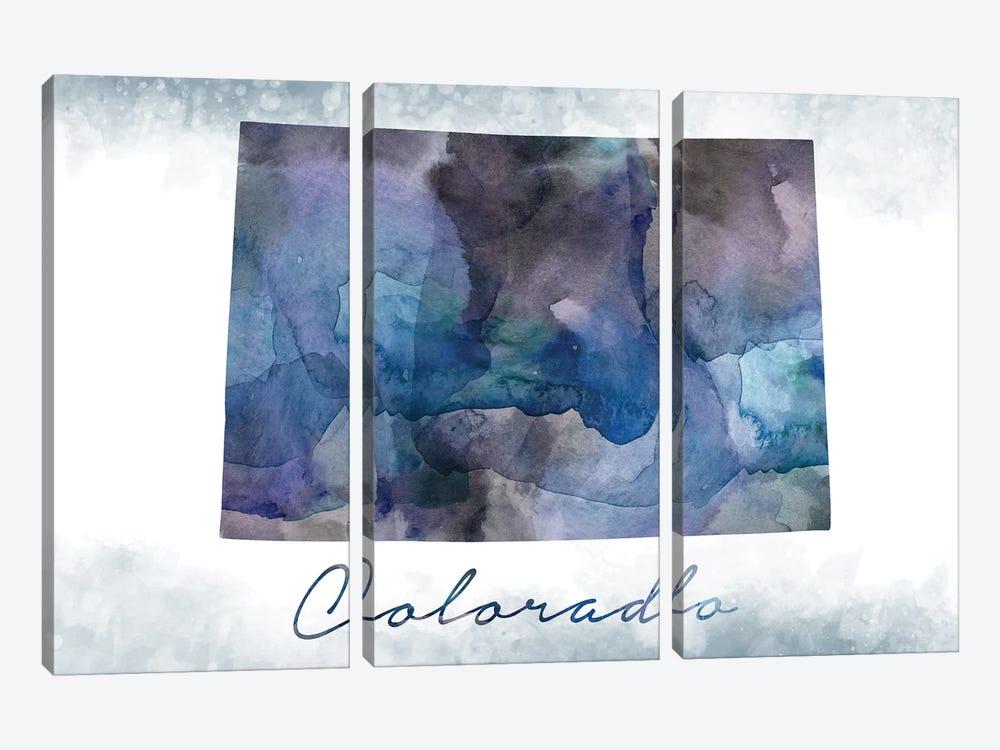 Colorado State Bluish by WallDecorAddict 3-piece Canvas Wall Art